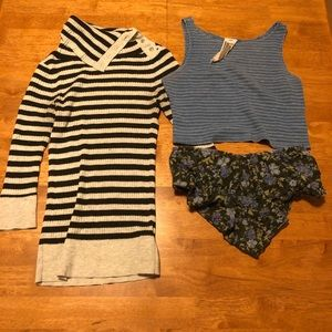 3x Free people tops Bundle
